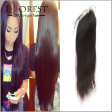 Wholesale Soft Hair Factory Cheap Sliky Straight Unprocessed Virgin Peruvian Hair Lace Closure With Baby Hair