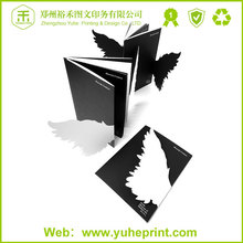 Professional company advertising poster catalogue printing high quality UV coating cover si target