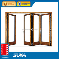 Residential aluminum full view transparent bi-folding door