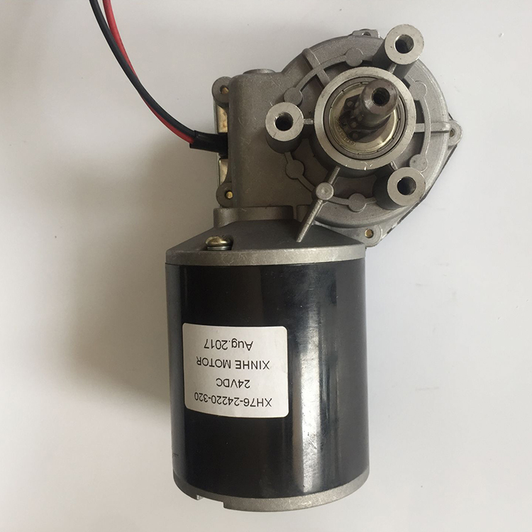 China supplier servo motor mini worm gear motor 24v with 48CPR encoder