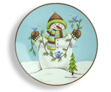 christmas design ceramic plate for home decor