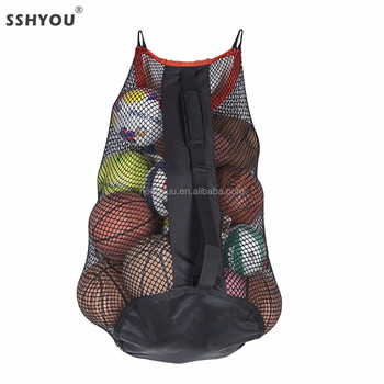 Quality durable football, Basketball, volleyball, Mesh Sports Ball Drawstring Carrying Bag, Net