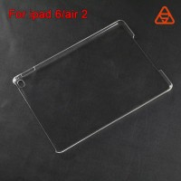 For ipad 6 /air 2 transparent PC hard case top supplier China wholesale mobile phone case smart back case