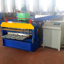 High quality sheet metal roofing metal tile IBR and corrugated roofing doule dual shingles double layer roll forming machine