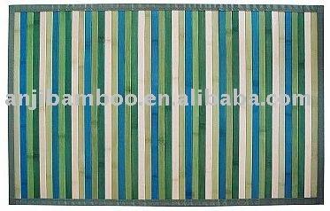 bleu vert blanc bambou tapis tapis id de produit 403919304. Black Bedroom Furniture Sets. Home Design Ideas