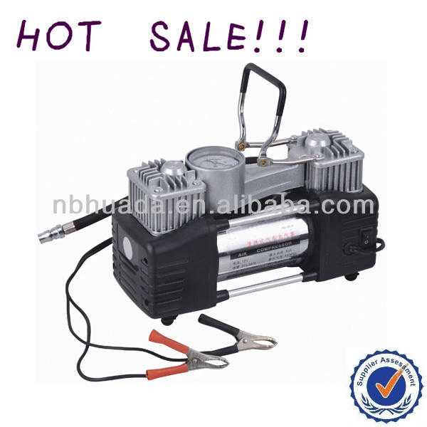 car tire inflator 12v heavy duty 2*30mm double cylinder (CE & ROHS)