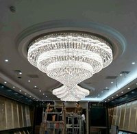 Modern custom large hotel luxury crystal chandelier