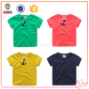 Hot selling kids wear short sleeve t-shirt printing design child wear with pocket
