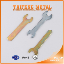 Zinc plated steel double open end wrench