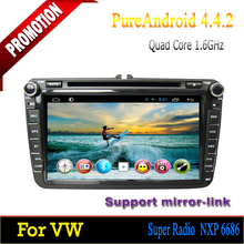 Hight qulity ROM 16GB Quad-core Android 4.4 touch screen car dvd for VW Polo 2006 2007 2008 2009 2010 2011 2012
