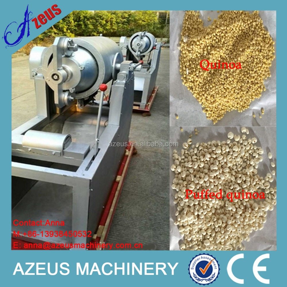 Super quality quinoa inflating machinery/grain puffing machine/quinoa puffing machine