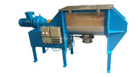 Powder detergent ribbon mixing machine