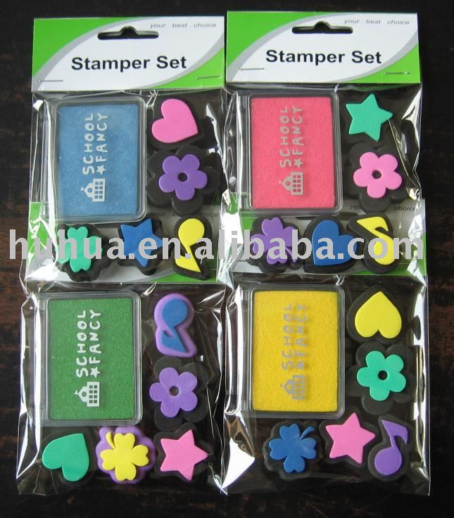 EVA stamp set toy stamp set oem design toy stamp