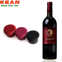 China supplier custom logo reusable soft silicone whisky bottle plastic cap