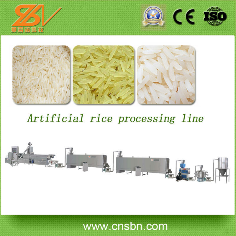 Broken rice reused manufacturer Extruded Rice Processing Line/Artificial Rice Noodle Extrudering Machine