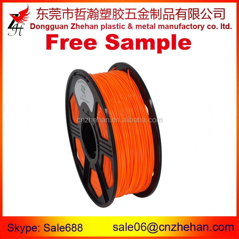 Professional 3d printer filament supplies in extruder machine pla 1.75mm 1kg/ spool