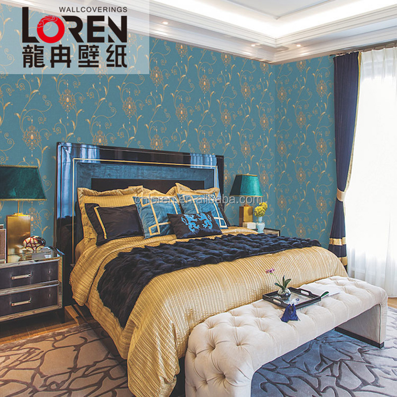 Loren new design thick commercial vinyl wallpaper factory price (FA50707)