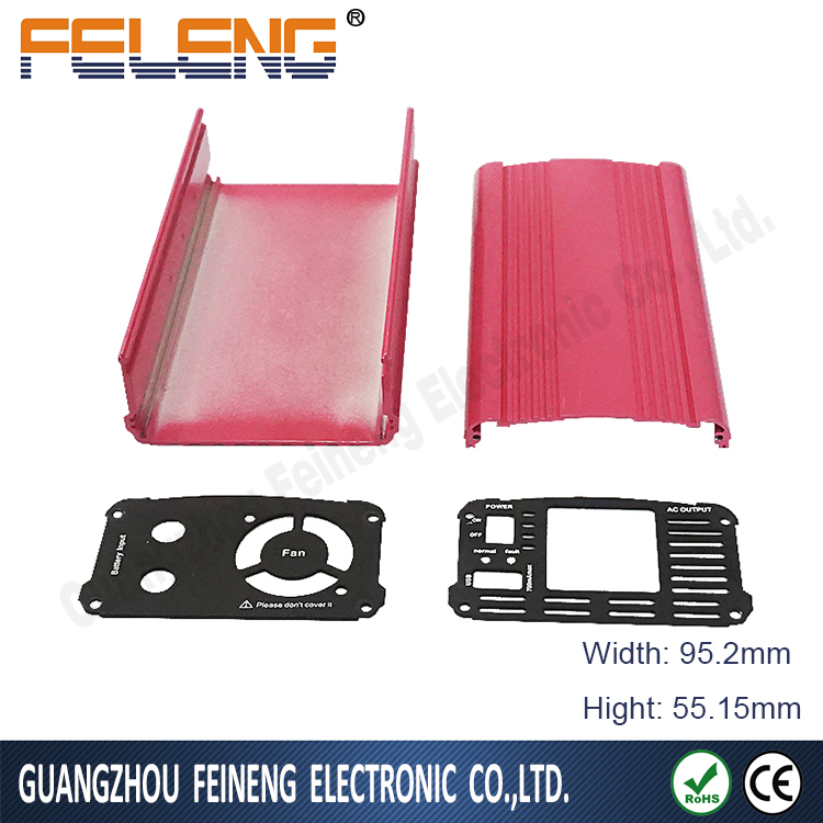 Unstandard power inverters aluminum enclosure junction box/shell/case for PCB industry