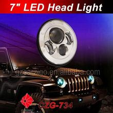 "chinese fair show high power head light 7"" round motorcycle accessories for off-road 4 by 4"