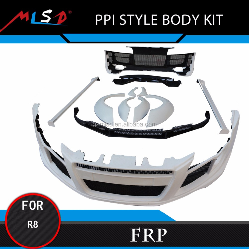 Auto Car Bumper High Quality Carbon Fiber PPI Style Body Kit for Audi R8