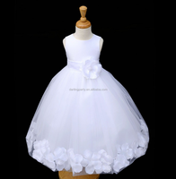 Fashion Kids White Tulle Flower Girls wedding dress
