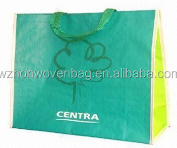 Handled Style and rpet,140GSM, laminated rpet material Material rpet shopping bag