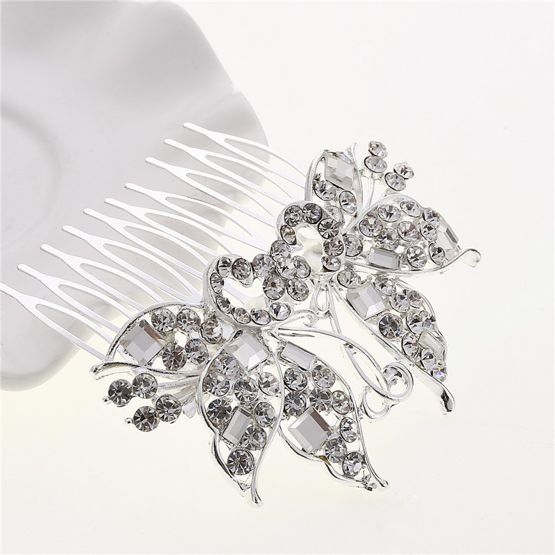 CZ Diamond Tiaras And Crowns Bridal Hair Ornaments For Weddings Crystals Hair Comb Accessories Jewelry for Women