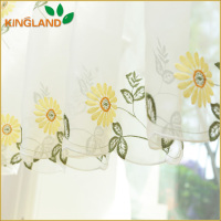 Wholesale pure fresh & soft embroidery curtains designs