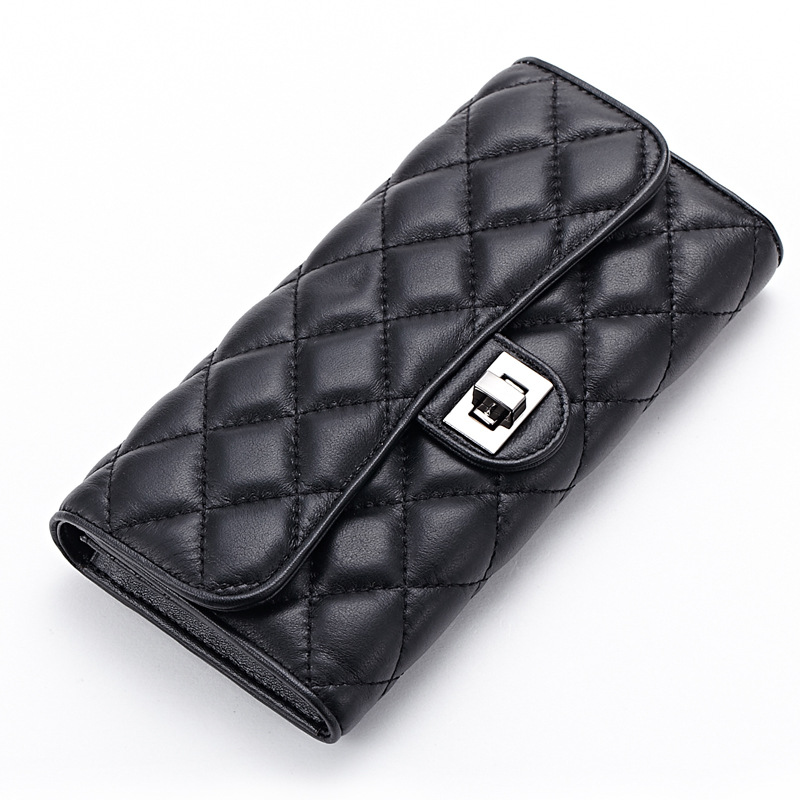 women RFID blocking wallet luxury leather clutch travel purse