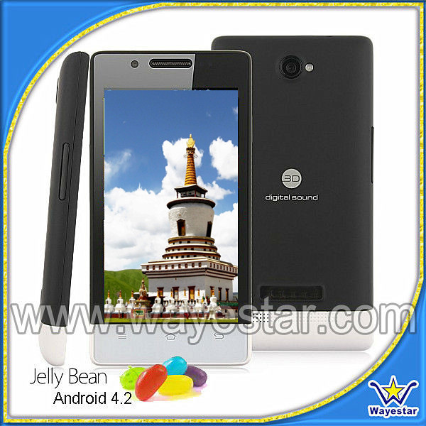 low cost android smart phone dual sim 3g mobile phone 4.0 inch