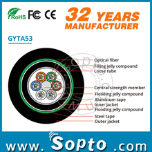 Outdoor Armored Submarine Fiber Optic Buried Cable GYTA53