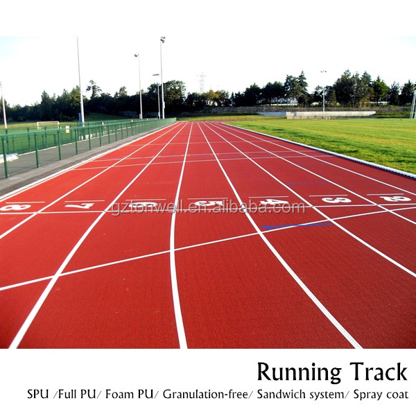 Rubber Full-PU composed athletic track