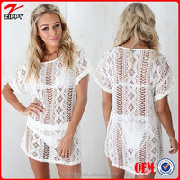 2014 Women Clothing Manufacturer Ladies Lace Blouse Latest Design Blouse