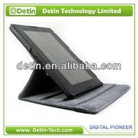New Table standing Rotary PU leather case for BlackBerry Playbook