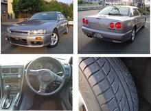 1998 second hand Used car NISSAN SKYLINE GT/Sedan/RHD/64500km/Gas/Petrol/Silver
