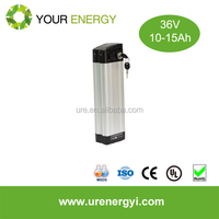 High capacity 36v silver fish ebike battery pack with 10Ah capacity