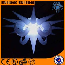 Party Decorative Hanging Inflatable Star with Led Light