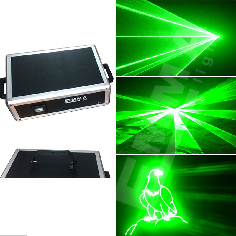 Green 2W Animation Laser Show System 2000mw Stage Disco DJ Light DT30kpps concert dj party bar club equipment theatre lighting