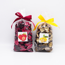 75g scented potpourri in opp bag with ribbon&custom sticker for home air freshener