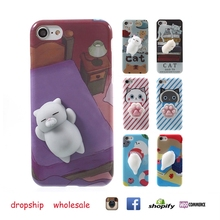 3D Cute Soft Silicone Squishy Cat Phone Cases for iphone 6 6plus 7 7plus