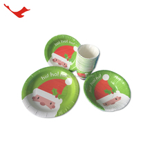 005 Christmas decorate charger divided disposable paper plates