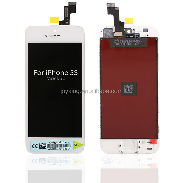 [joyking]Guangzhou supplier mobile phone original lcd for apple iphone 5s lcd display with touch screen