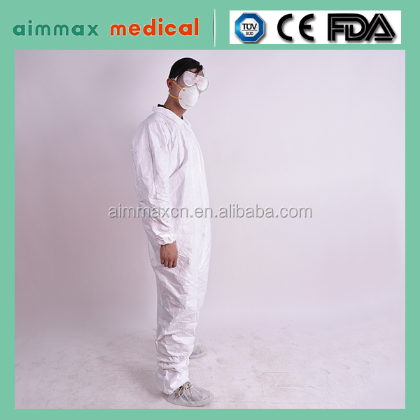 Navy Color 25-80g Nonwoven PP/SMS Disposable Coverall