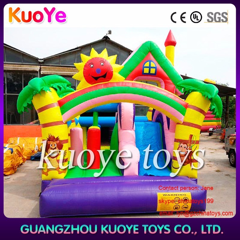 inflatable forest bouncy castle slide bouncing slide bouncer inflatable slides for commercial use
