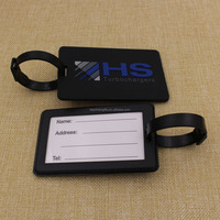 supply cheap custom logo hard plastic luggage tag