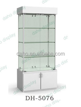 High Quality Pen Display Glass Showcase, Glass Cabinet For Stationery