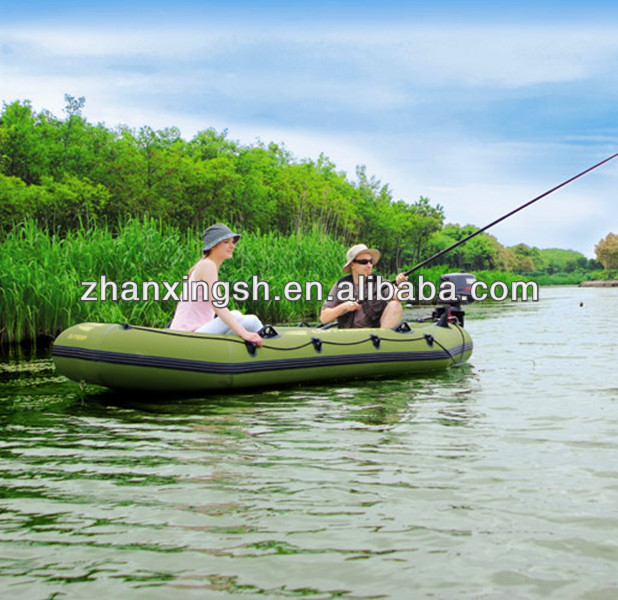 Modern appearance OEM inflatable pontoon fishing boat for amuse