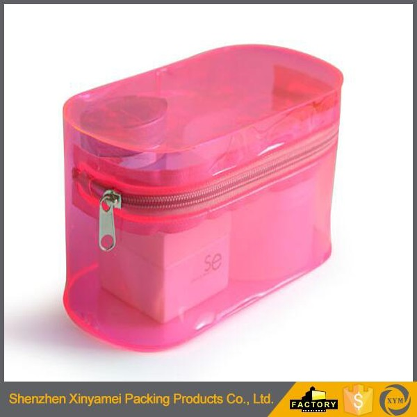 Shenzhen Manufacturer PVC Vinyl Soft Bag Zipper Frosty Cosmetic Pouch Beauty Make Up Packaging Bag With Slidder Zipper