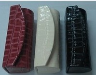 Wholesale satin/PU/Fabric/metallic lipstick cases with mirror