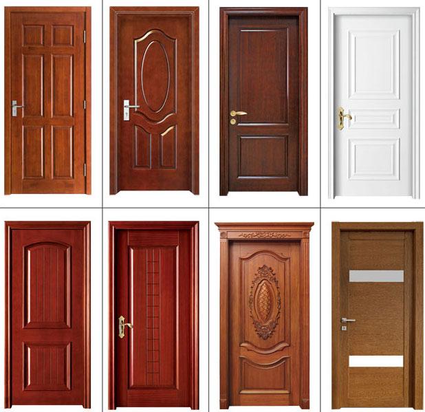 New design interior veneer wooden residential flush door for Residential wood doors
